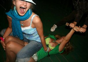 Drunken Californian college girl orgy soiree