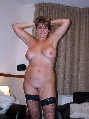 German granny in black stockings, first-timer pictures of..
