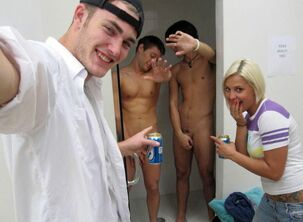 Depraved student, super-sexy cfnm, bare gals and fellows