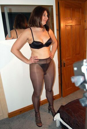 Seven different mature moms in pantyhose, how they sexy?